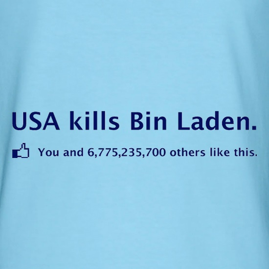 Bin Laden Facebook t shirt